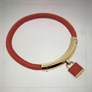 Michael Kors Orange Leather Bracelet